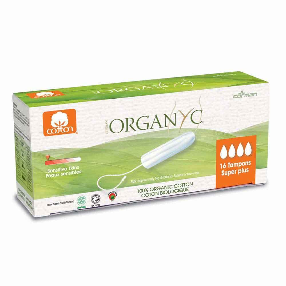 Organyc Organic Cotton Tampons Super Plus - 16 per pack