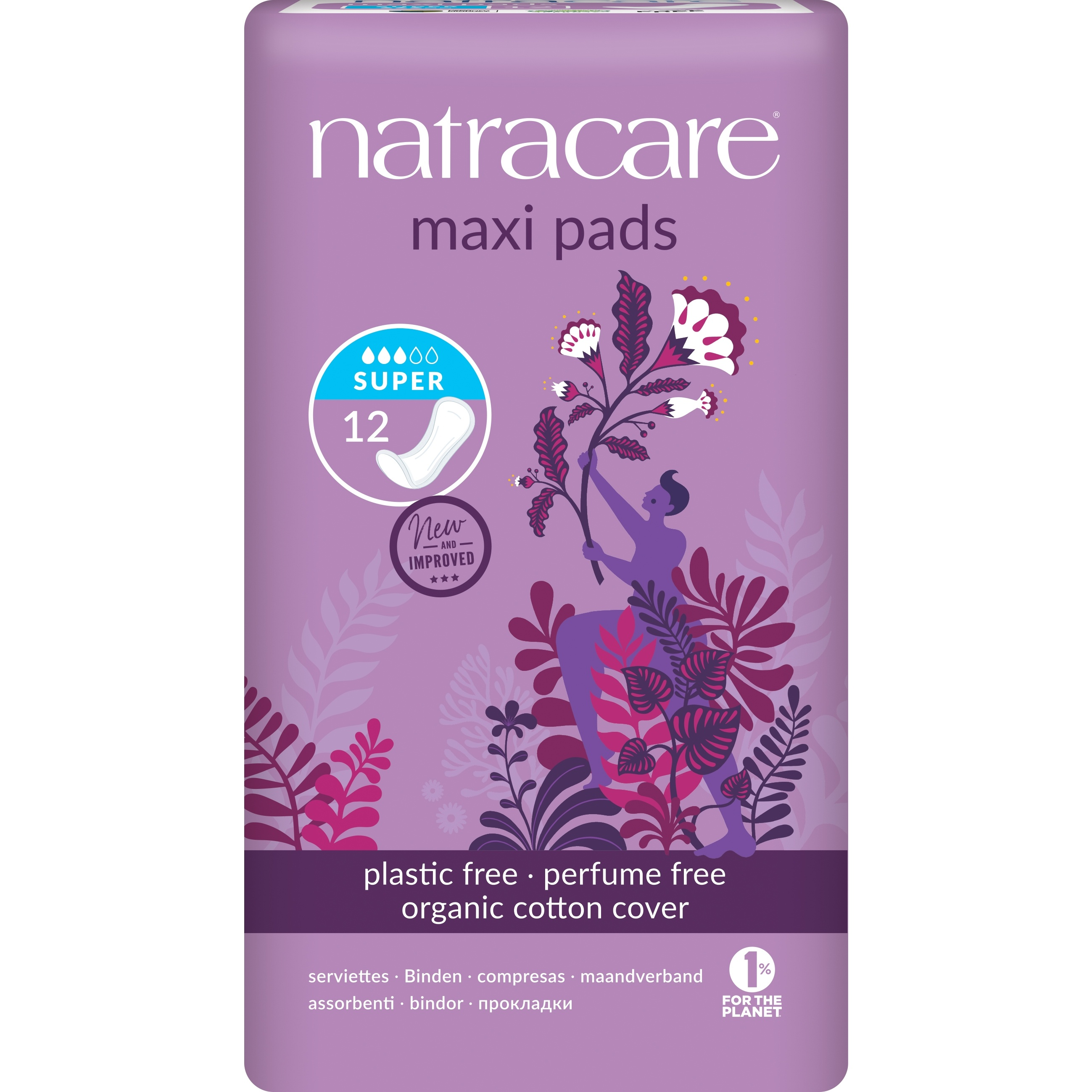 Natracare Super Natural Maxi Pads 12's
