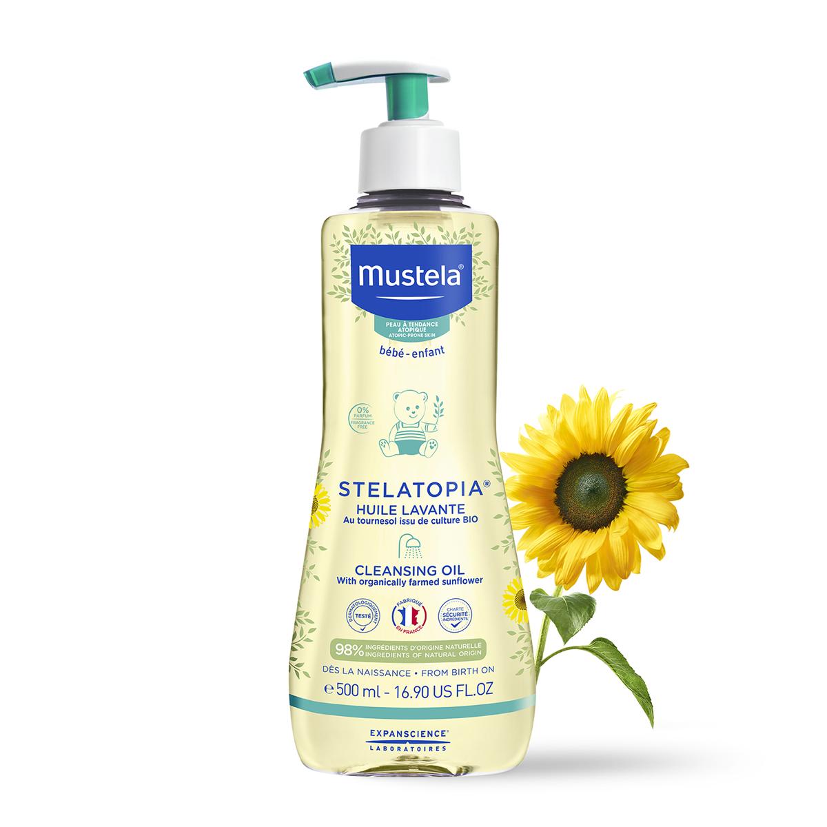 Mustela Stelatopia Cleansing Oil Atopic Skin Fragrance-Free 500ml