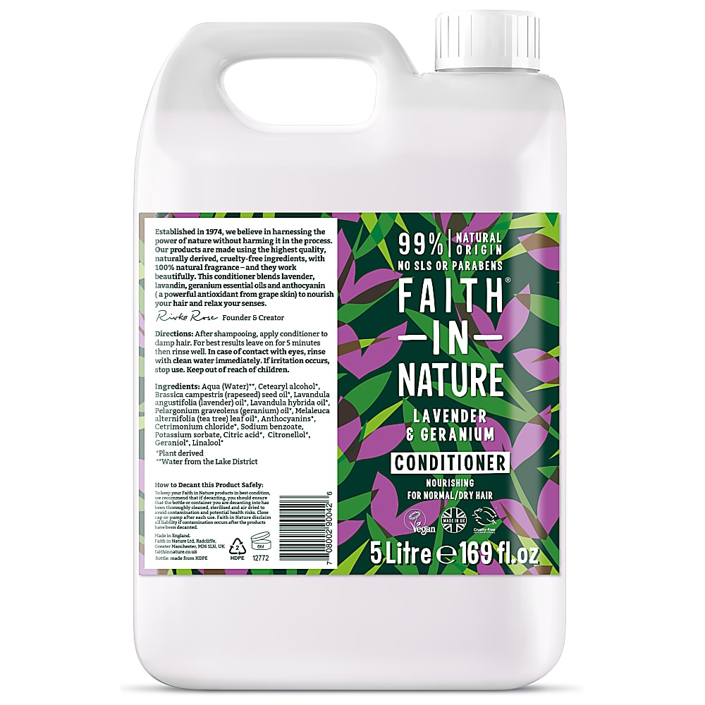 Faith in Nature Lavender & Geranium Conditioner 5000ml