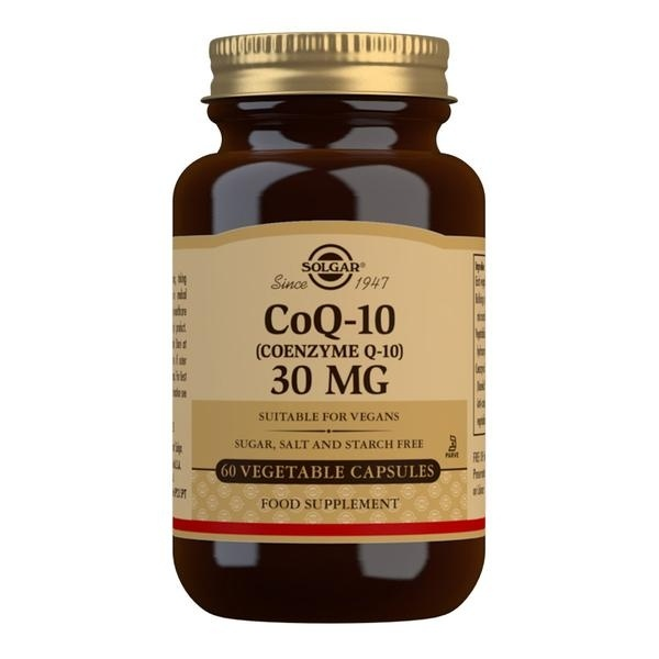 Solgar CoQ-10 (Coenzyme Q-10) 30 mg Vegetable Capsules - Pack of 60