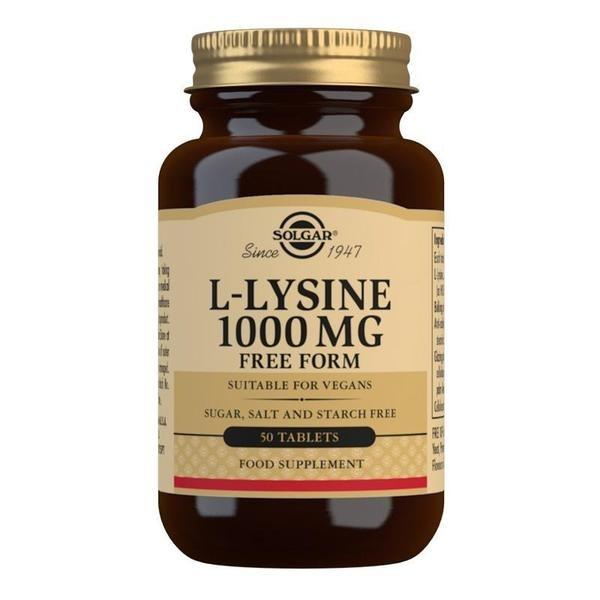 Solgar L-Lysine 1000 mg Tablets - Pack of 50