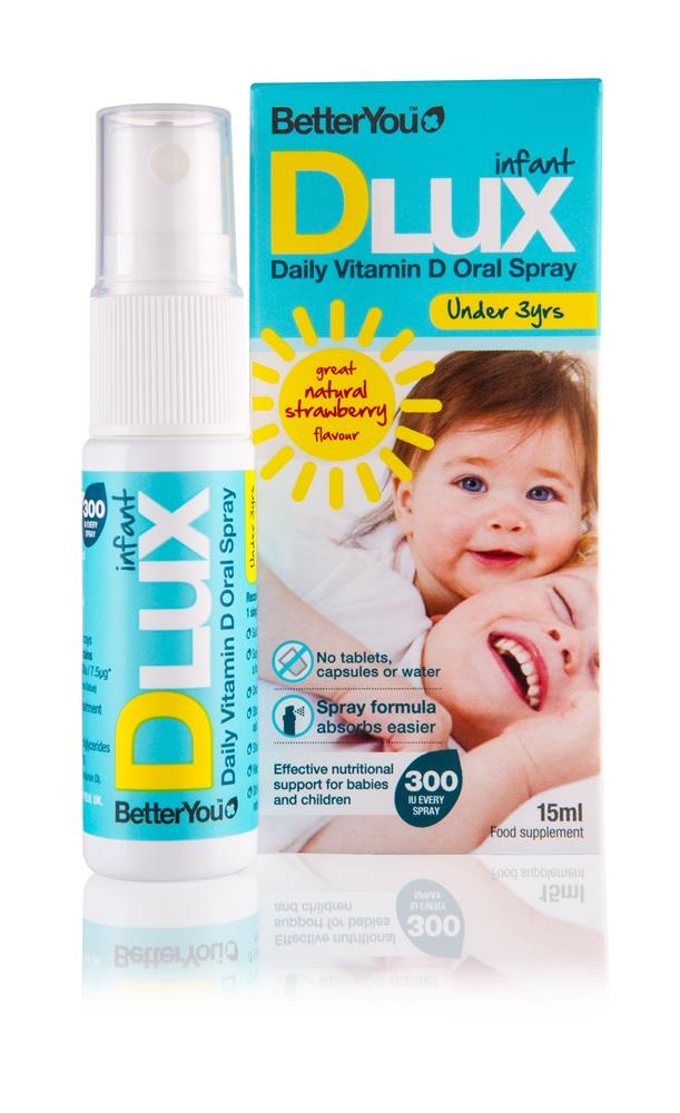 BetterYou DLuxInfant Vitamin D 400IU Oral Spray 15ml