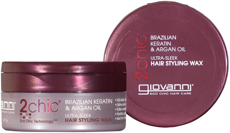 Giovanni 2chic Brazilian Keratin & Argan Oil Ultra-Sleek Hair Styling Wax 57g