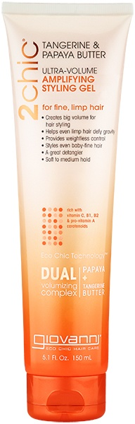 Giovanni 2chic Papaya & Tangerine Butter Ultra-Volume Styling Gel 150ml