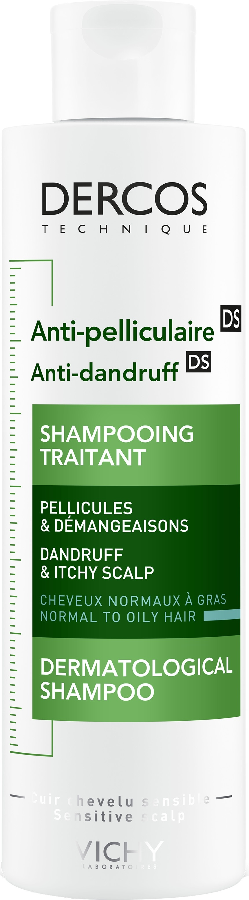 Vichy Dercos Anti-Dandruff Advanced Action Shampoo for Normal to Oily Hair 200ml