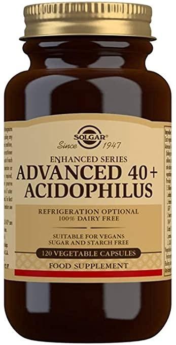 Solgar Advanced 40+ Acidophilus Vegetable Capsules - Pack of 120