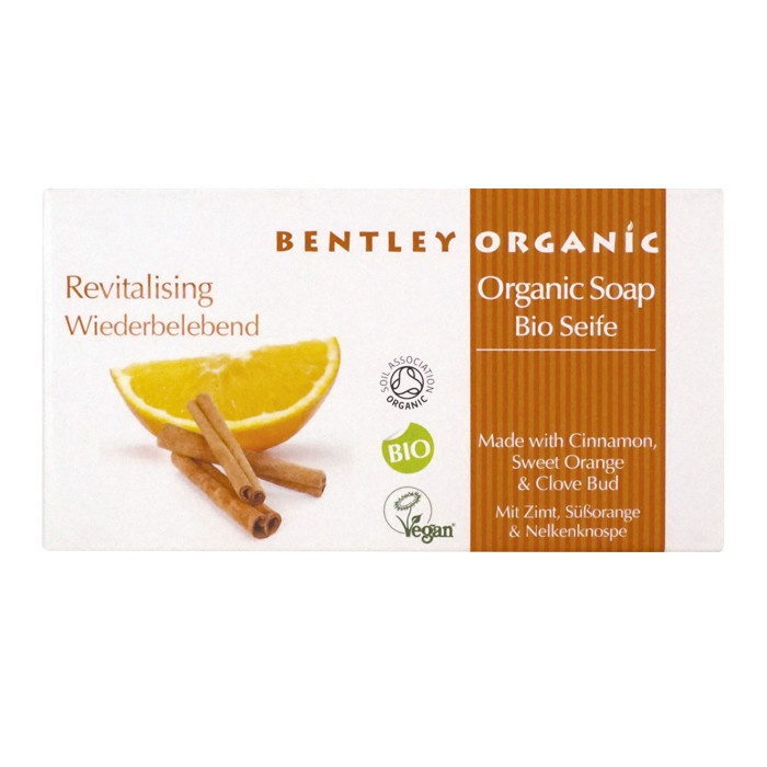 Bentley Organic Revitalising Soap Bar with Cinnamon, Sweet Orange and Clove Bud 150g
