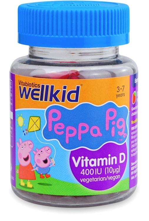 Vitabiotics Wellkid Peppa Pig Vitamin D 30 Soft Jellies