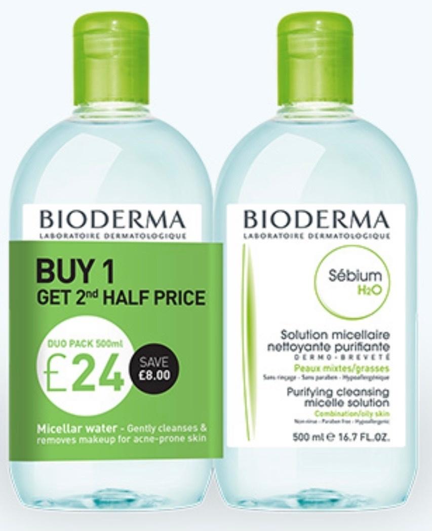 Bioderma Sebium H20 2 x 500ml Special Offer