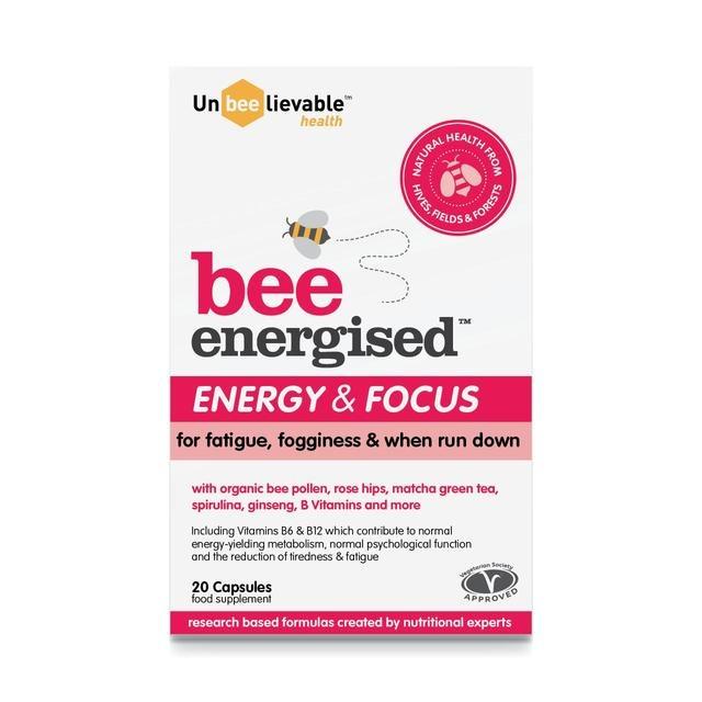 Unbeelievable Bee Energised - Energy & Focus Supplement 20 Capsules