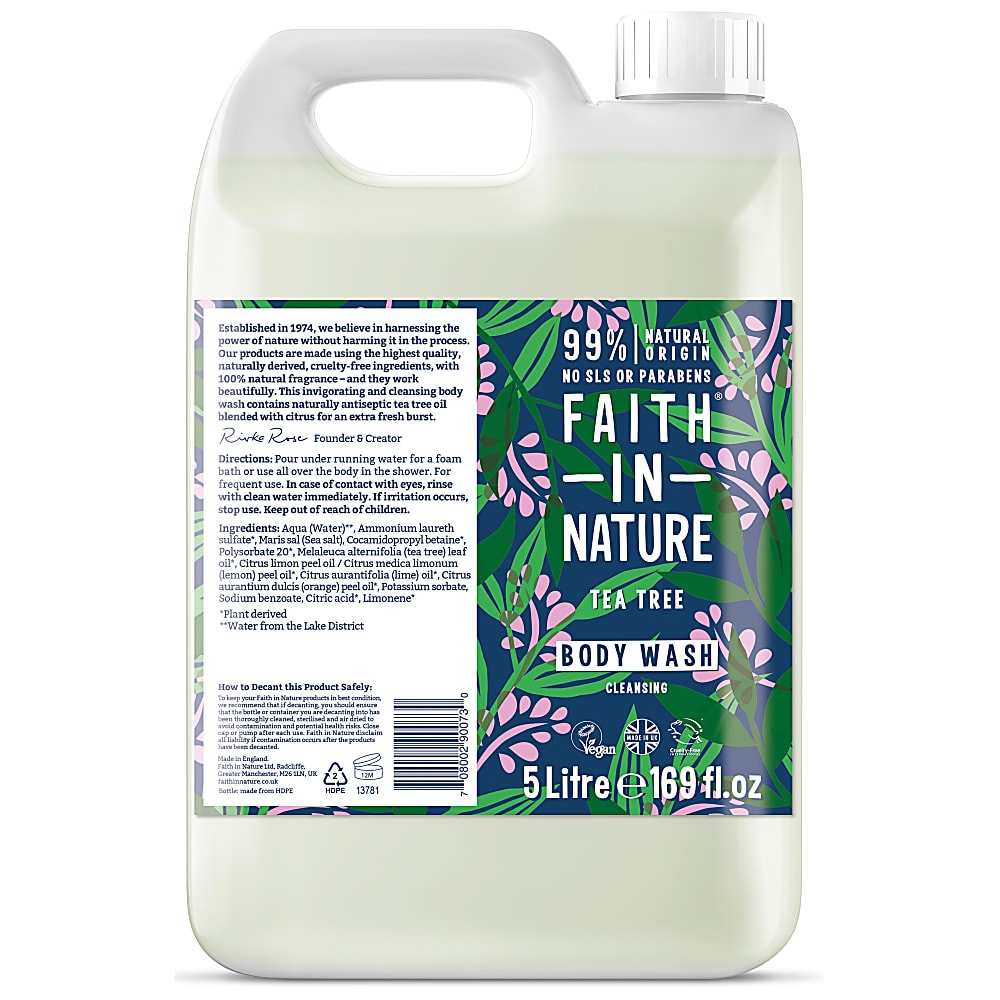 Faith in Nature Tea Tree Shower Gel & Foam Bath 5000ml