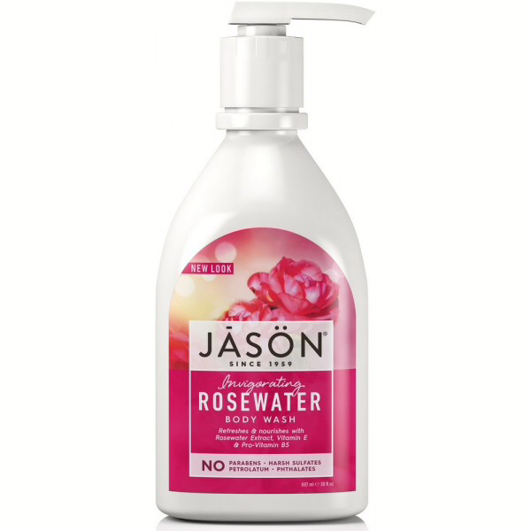 Jason Rosewater Satin Shower Body Wash With Pump 887ml