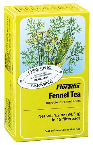 Floradix Fennel Organic Herbal Tea 15 filterbags