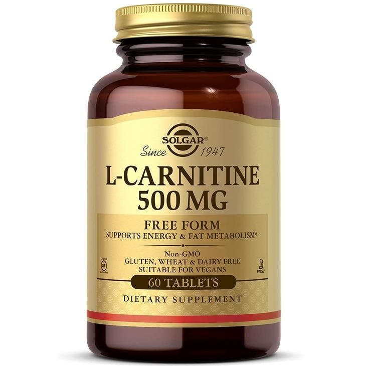 Solgar L-Carnitine 500 mg Tablets - Pack of 60