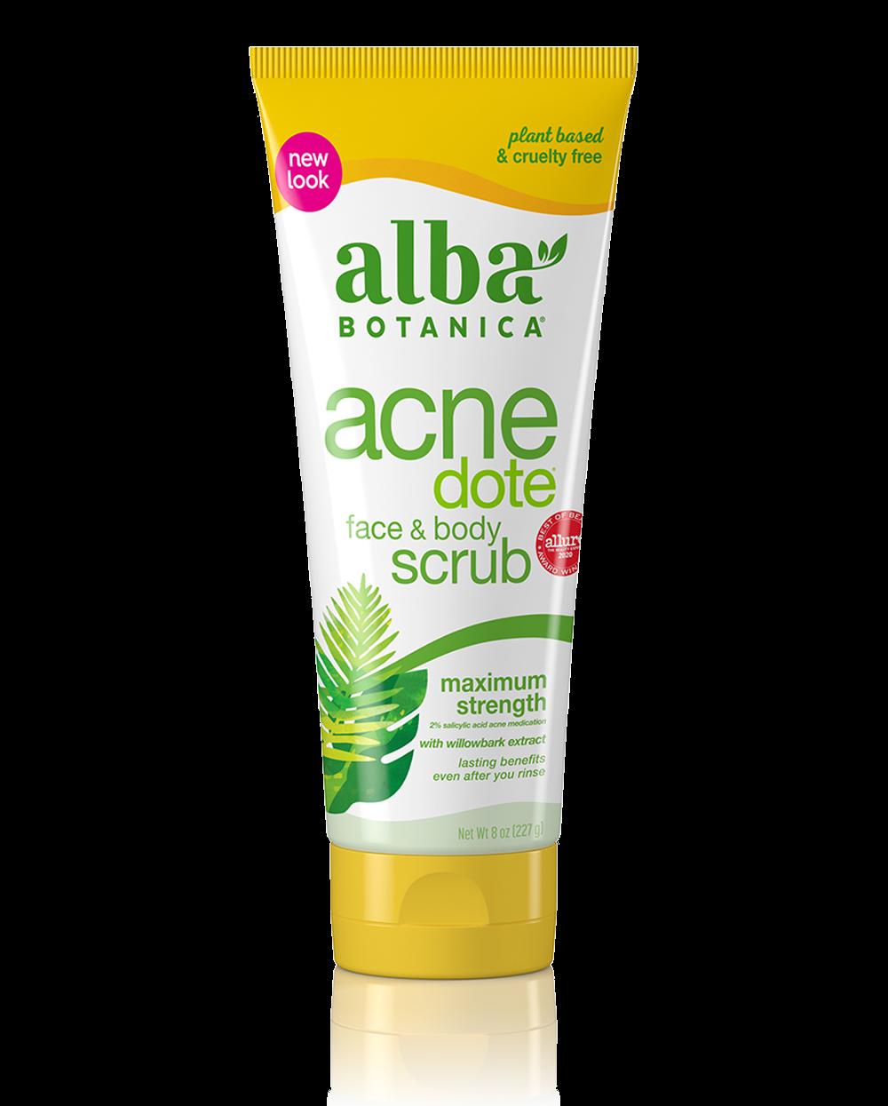 Alba Botanica Acnedote Face & Body Scrub 227g