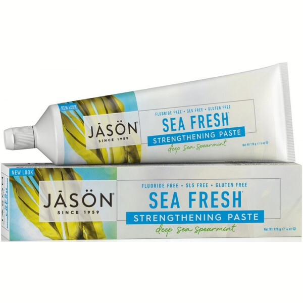 Jason Sea Fresh Antiplaque&Strengthening Sea Spearmint paste Fluoride Free 170g