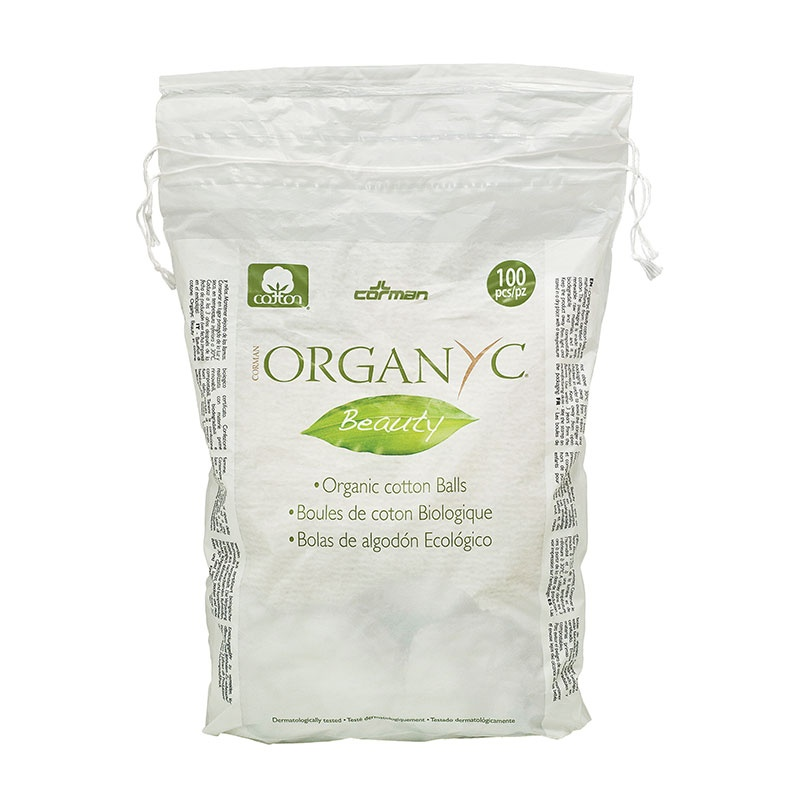 Organyc Cotton Wool Balls - 100 balls per pack