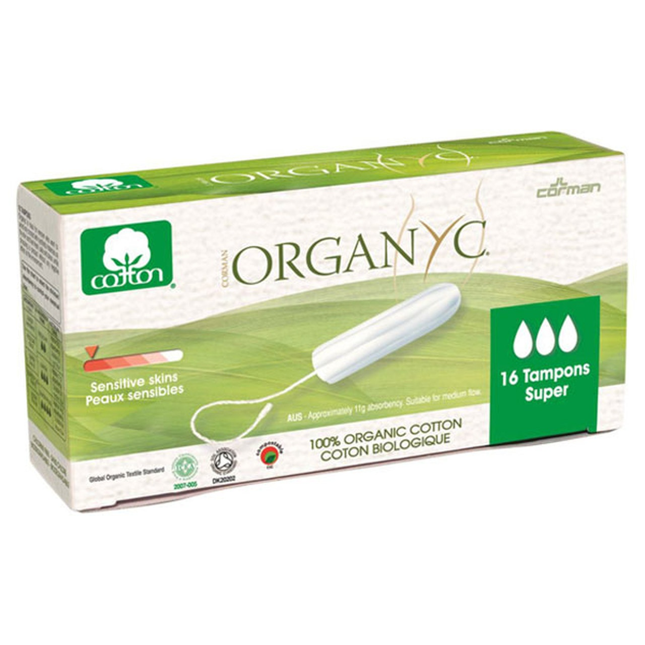 Organyc Organic Cotton Tampons Super - 16 per pack