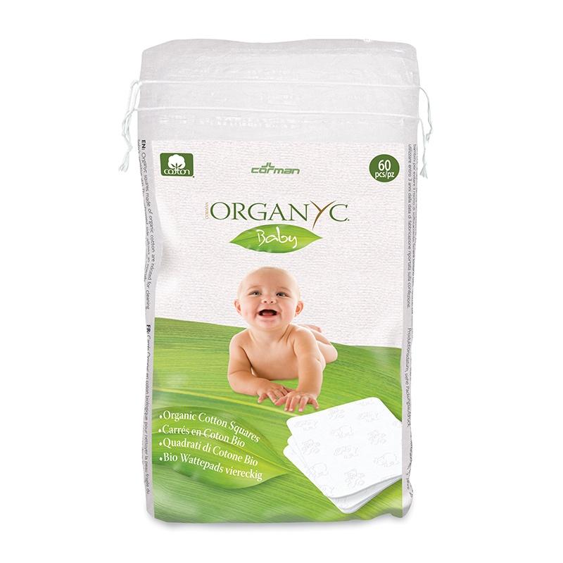 Organyc Organic Cotton Squares pack of 60