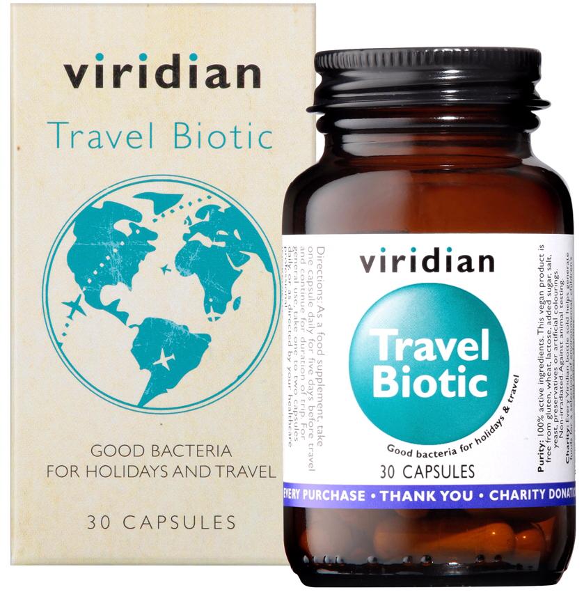 Viridian Travel Biotic Veg Caps 30caps