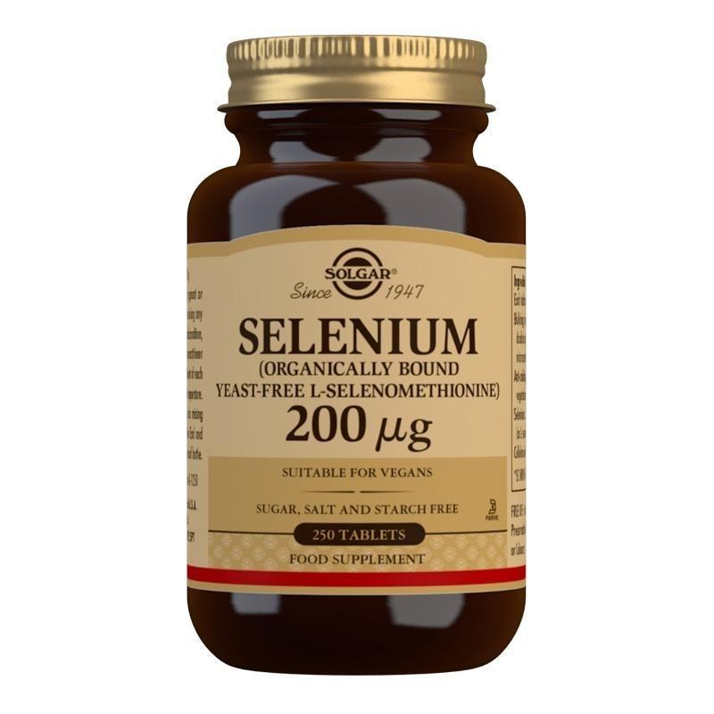 Solgar Selenium (Yeast-Free) 200 mcg Tablets - Pack of 250
