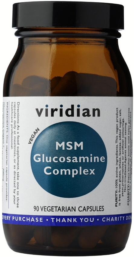 Viridian Glucosamine MSM Complex Veg Caps 90caps