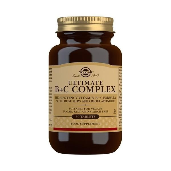 Solgar Ultimate B+C Complex Tablets - Pack of 30