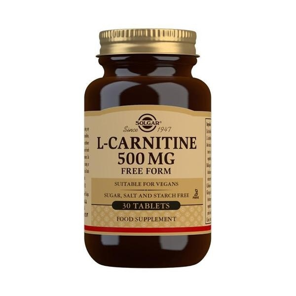 Solgar L-Carnitine 500 mg Tablets - Pack of 30