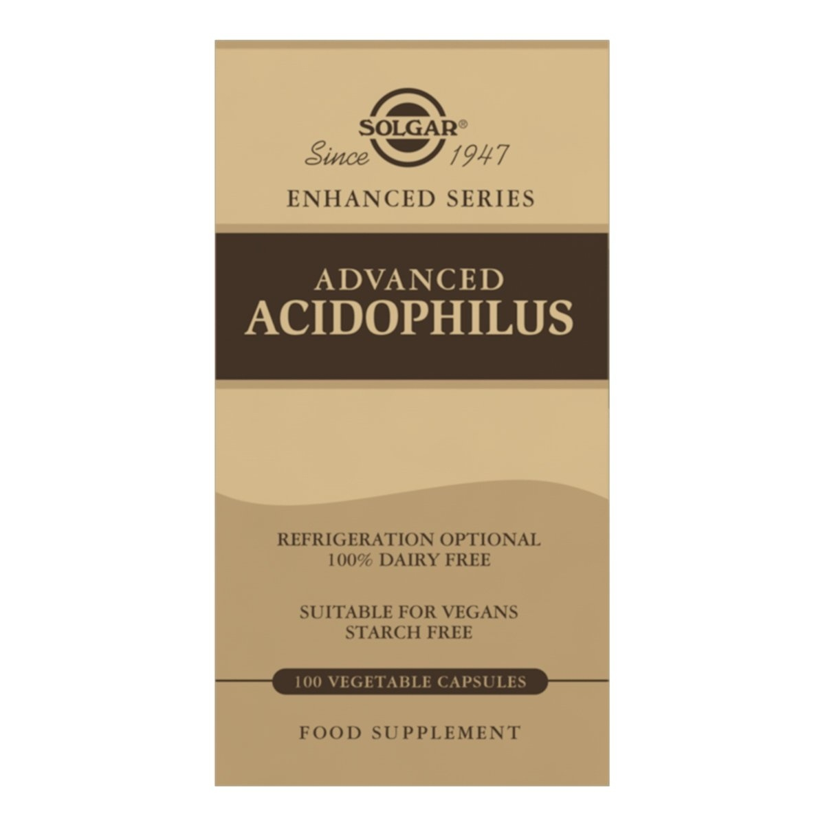 Solgar Advanced Acidophilus Vegetable Capsules - Pack of 100
