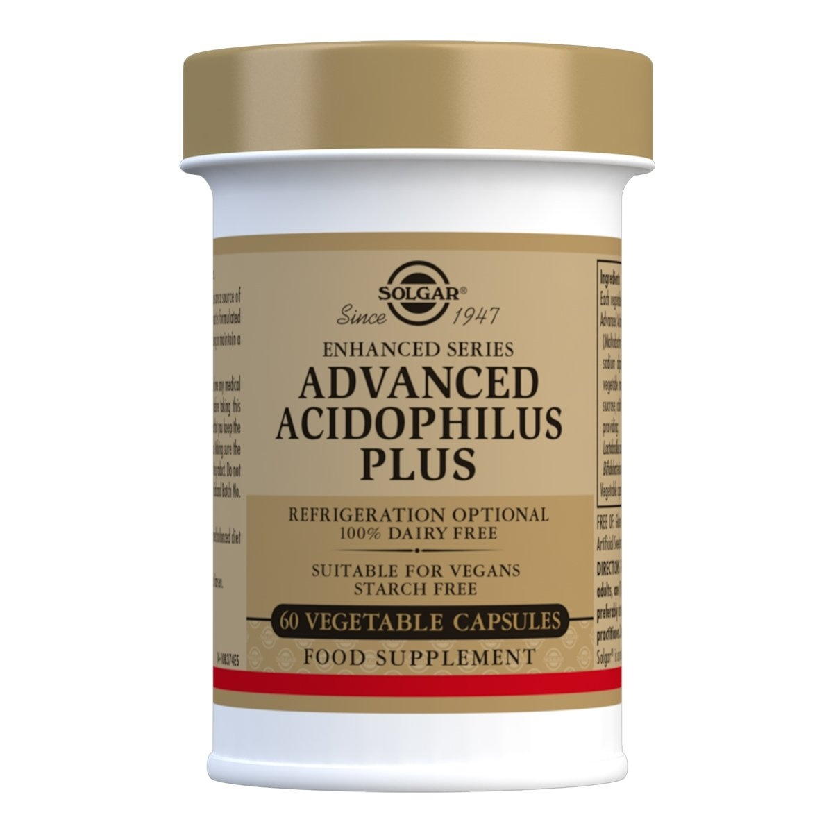 Solgar Advanced Acidophilus Plus Vegetable Capsules - Pack of 60
