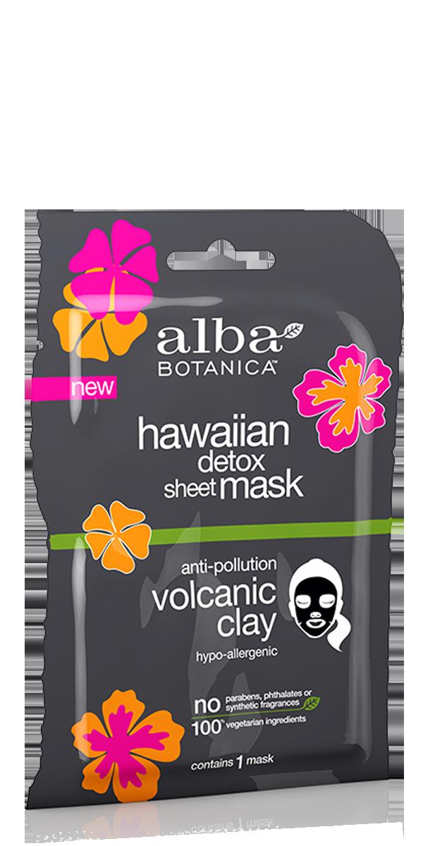 Alba Botanica Hawaiian Detox Clay Detoxifying Sheet Mask (single)