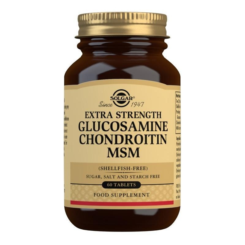 Solgar Extra Strength Glucosamine Chondroitin MSM Tablets - Pack of 60