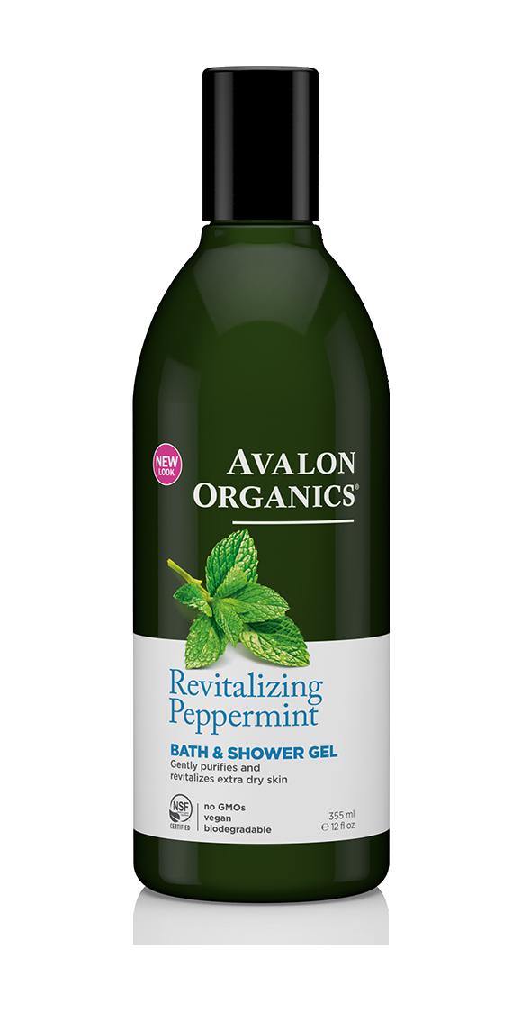 Avalon Organics Peppermint Bath & Shower Gel 355ml