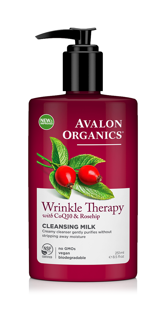 Avalon Organics Wrinkle Therapy with CoQ10 & Rosehip Cleansing Milk 251ml