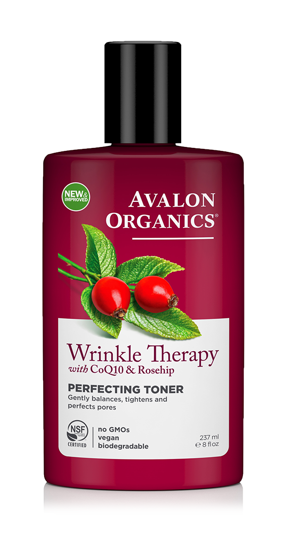 Avalon Organics Wrinkle Therapy with CoQ10 & Rosehip Perfecting Toner 237ml