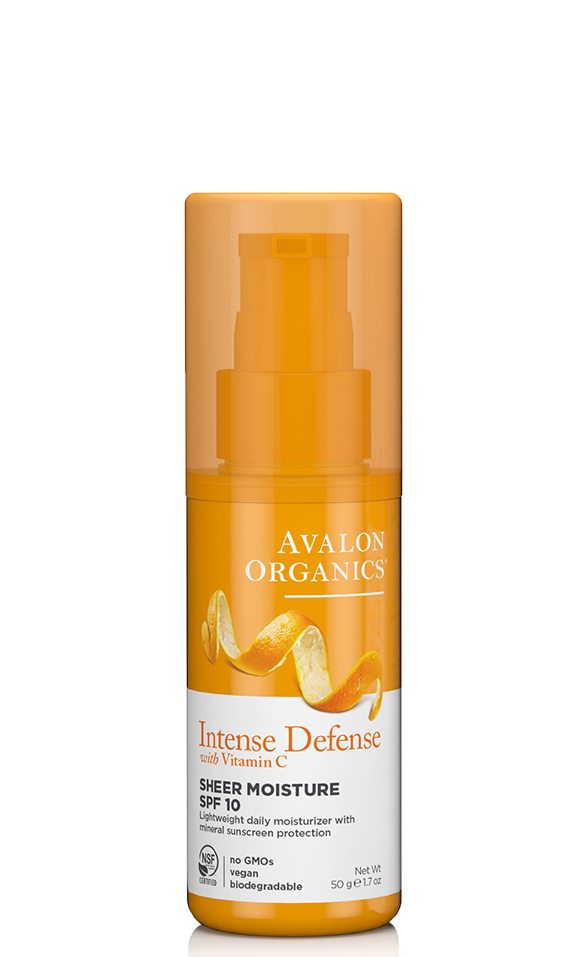 Avalon Organics Intense Defense with Vitamin C Sheer Moisture SPF10 50g
