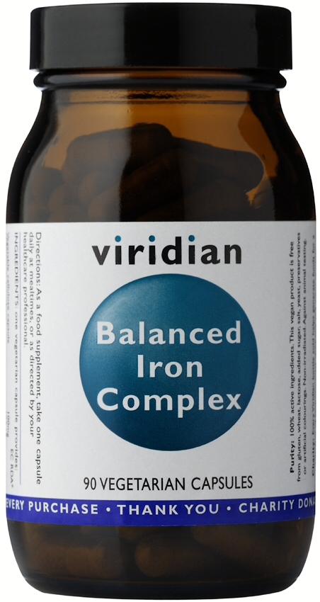 Viridian Balanced Iron Complex Veg Caps 90caps