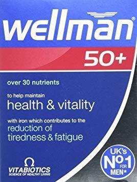 Vitabiotics Wellman 50+ 30 Tablets