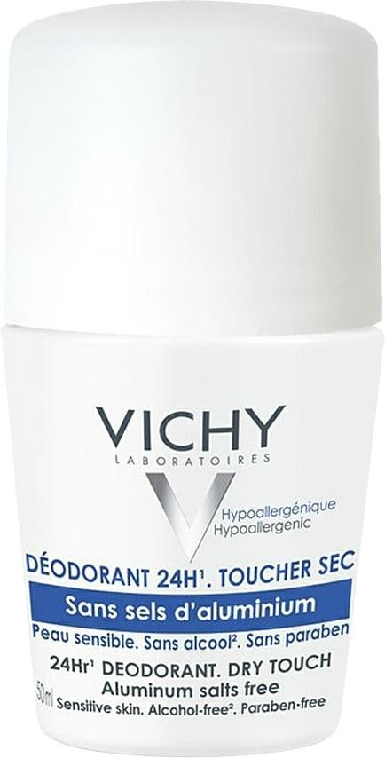 Vichy 24hr Deodorant Roll On - Dry Touch - Aluminium Free 50ml