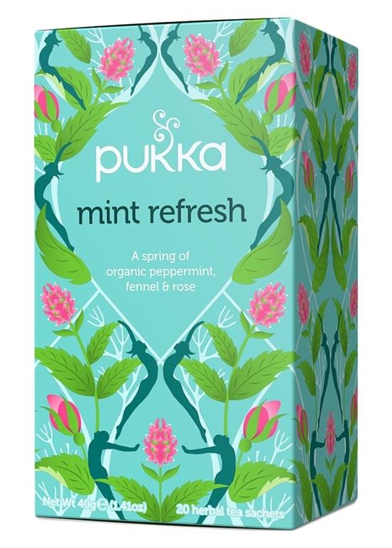 Pukka Mint Refresh peppermint, licorice & rose 20 Tea Bags
