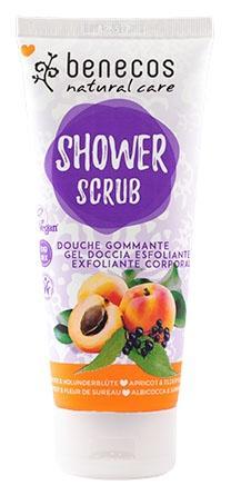 Benecos Shower Scrub Apricot and Elderflower 200ml