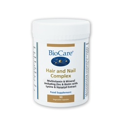 Biocare Hair and Nail Complex 90 Veg Capsules