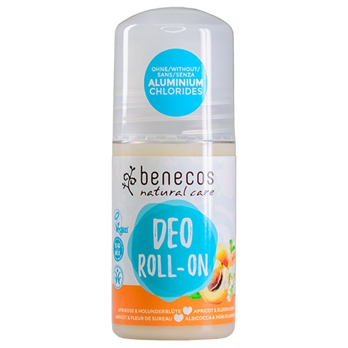 Benecos Roll On Deodorant Apricot and Elderflower 50ml