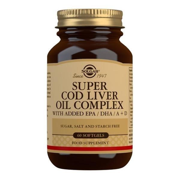 Solgar Super Cod Liver Oil Complex Softgels - Pack of 60