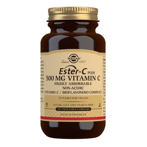 Solgar Ester-C Plus 500 mg Vitamin C Vegetable Capsules - Pack of 250