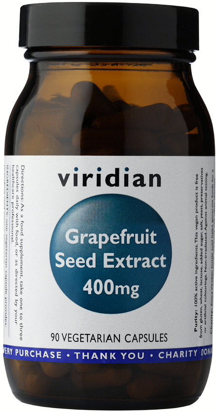 Viridian Grapefruit Seed Extract 400mg Veg Caps 90caps