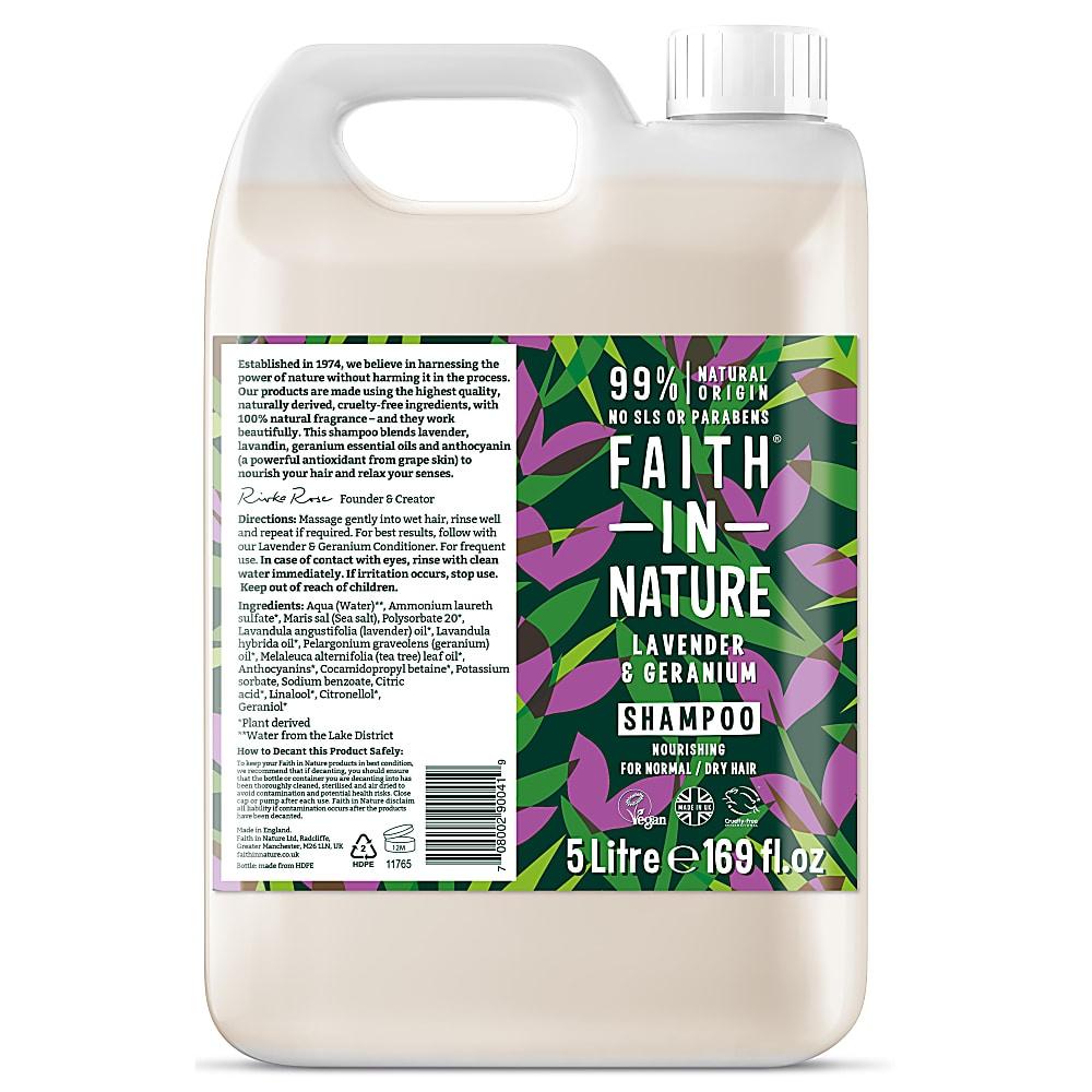 Faith in Nature Lavender & Geranium Shampoo 5000ml