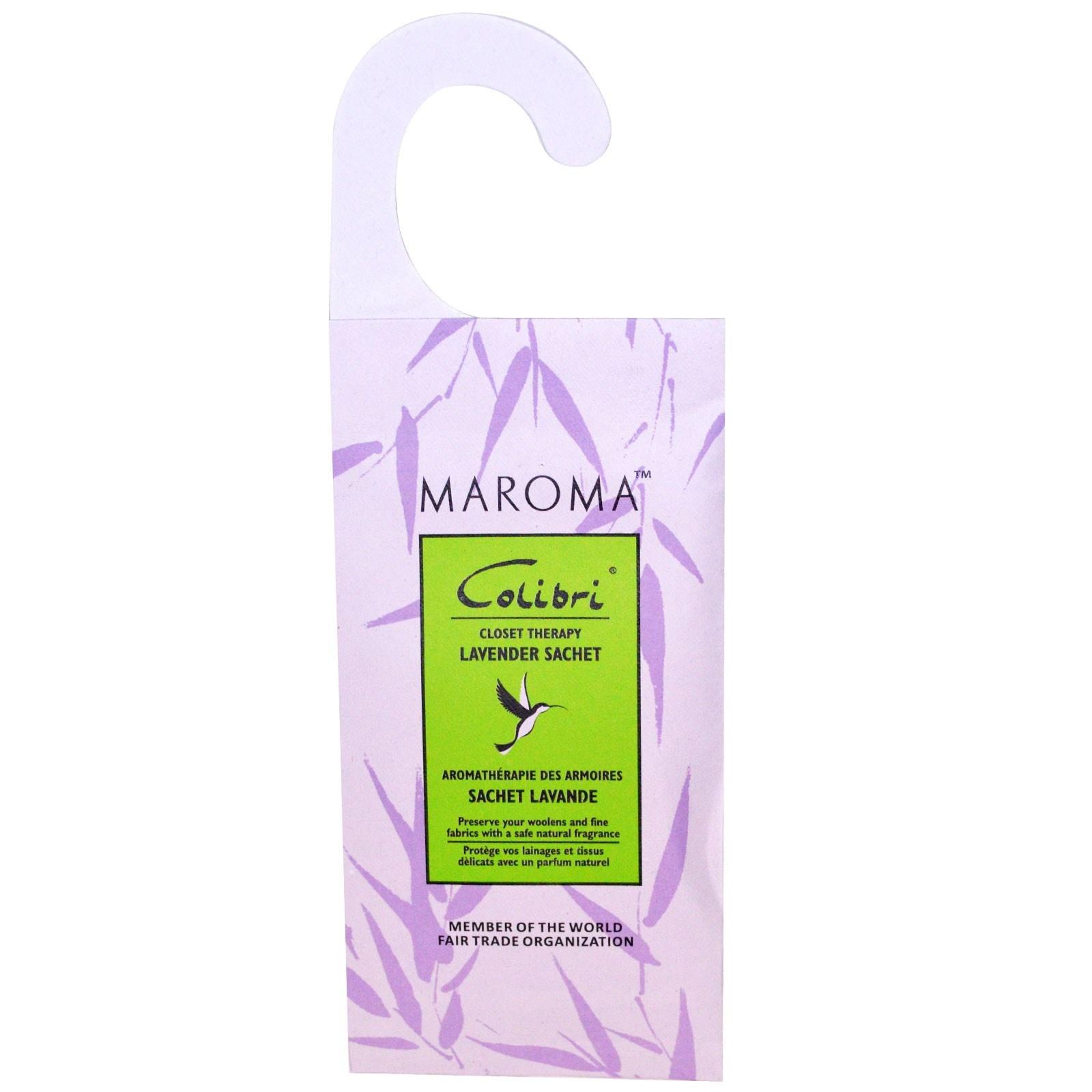 Maroma Colibri All Natural Wool Protector Lavender Hanging Sachet x 1