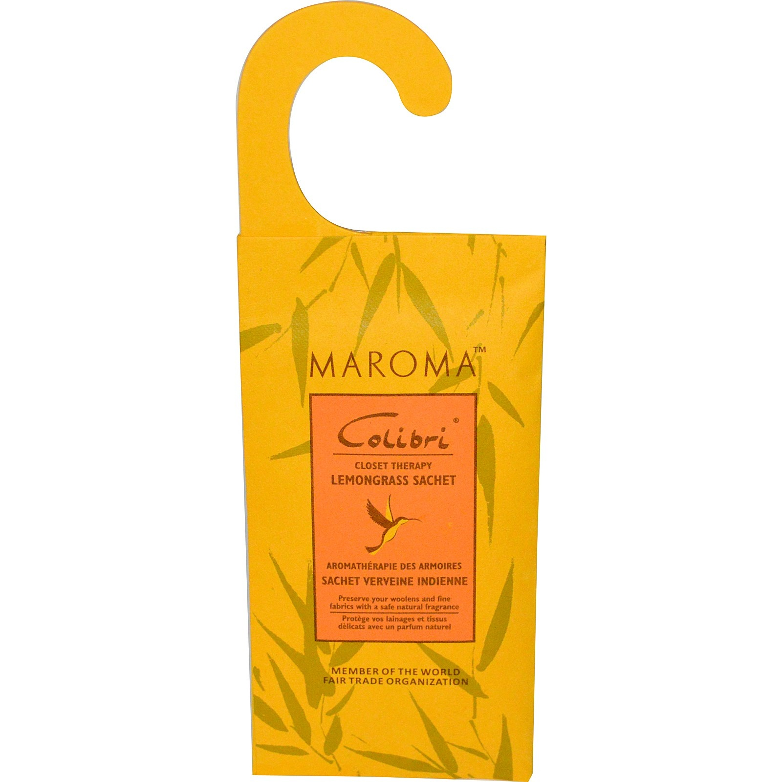 Maroma Colibri All Natural Wool Protector Lemongrass Hanging Sachet X 1 Insect Repellants